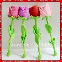 "2013 Valentine Gifts! 15"" plush red rose handmade flower massage hammer, Massage love gift product for shoulder, back and legs"