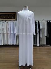 CM155 Popular white,khaki,little grey color saudi arab men thobe(China (Mainland))