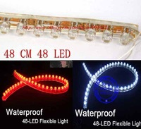 5pcs/lot  48cm 48LED Waterproof flexible car led strip MC10p free shipping