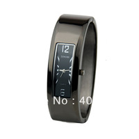 SINOBI women's cuff wristwatch waterproof bracelet alloy watch band ,BLACK/WHITE FREE SHIPPING