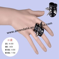 100pcs/lot, fashion finger ring,unique design punk ring,leather band,2 styles available,DHL/FedEx free shipping