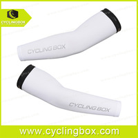2014 New arrival white color cycling arm warmer  anti-UV for men in bicycle racing