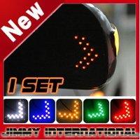 Car led car Mirror Arrow Turn Light Indicator Safe Mirror Light Turn Signal Arrow Flash  led car lights