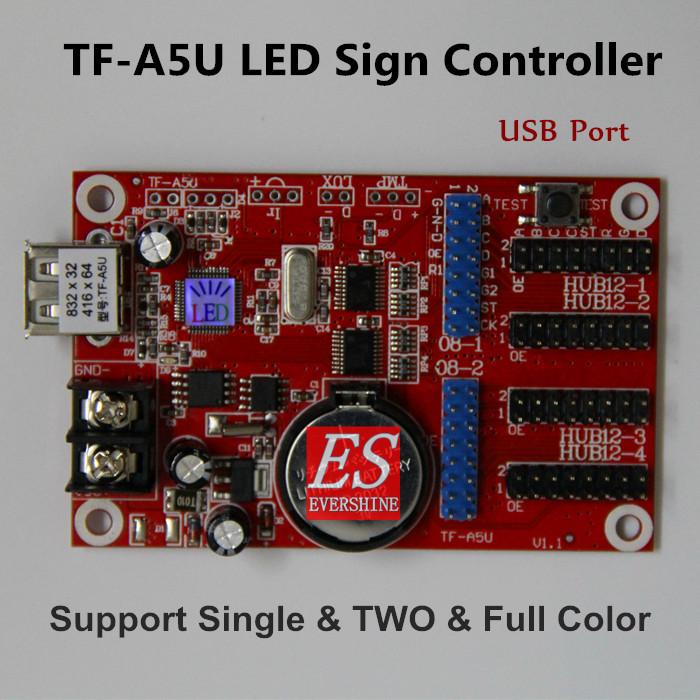 TF-A5U Wireless USB LED Controller Card Support Single, Dual, Full Color LED modules(China (Mainland))