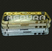 2012 Luxury gold diamond bezel for iphone4s -- free shipping fast delivery