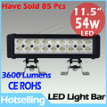 2012 alibaba express! 54w offroad light bar , free shipping+12 months warranty , IP68 waterproof aluminum led off road light bar