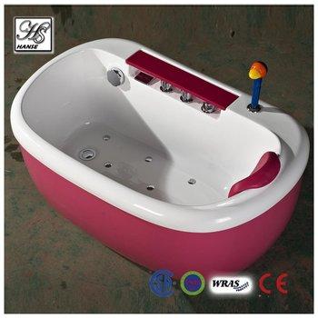 camicia rossa massaggio vasca da bagno per bambini con termometro HS-B1692