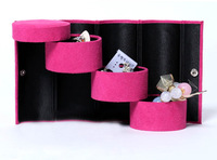 Velvet Jewelry Ring Bracelet Earrings Storage Container Organizer Box Case display bar-21