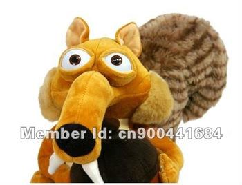2013 HOT SALE 20cm Ice Age Squirrel Scrat Plush Stuffed Squirrel Animal Toys Wholesaler Soft Cartoon toy +Free shipping