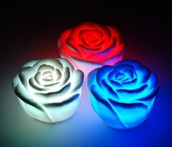 2012 Night lights Led Rose Flower Light led illumination love lamp gift 1202111 Wholesales(5pcs/lot) Free Shipping(China (Mainland))