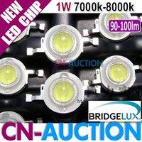 FS! Bridgelux LED Chip 1W Cool White, High Power LED Lamp Beads, 45mil, 90-100lm, 7000k-8000k 50pcs/lot (CN-BLC04) [Cn-Auction]