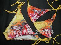 Free Shipping+Wholesale+2012NEW Sexy Fashion HOT Sale Women Swimwear Love Kills Bikini Bathing Suit Swimsuit Size S/M/L BE9115#