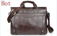Free shipping fashion men's briefcase/Genuine Leather + PU briefcase bags/fashion men's Business Bags/fashion briefcase