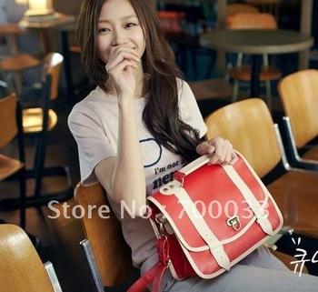 Drop/Free Shipping Student Red Fashion Shoulder Tote Handbag Various Colors