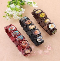 HOT!!! 60pcs/lot Good Wood Bracelet Hiphop Hand Beads Bracelet  fashion  WOOD jewelry