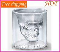 Aliexpress Free shipping 3 pieces Doomed Crystal Skull Shot Glass/Crystal Skull Head Vodka Shot Glass (2.5 ounces)