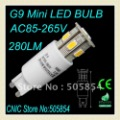 Free Shipping wholesale retail 3pcs/lot 9SMD5630 g9 led bulb/g9 mini led bulb/led G9 Lamp/G9 led light 270LM