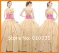 2013 Beautiful Sweet 16 Prom Ball  Quinceanera DressesGown Sexy Sweetheart  Applique Organza  Full-length Evening Pageant