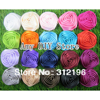 Free Shipping!100pcs/lot 1.8''-2'' Satin Rolled Rosettes,Handmade Satin Rose Flowers,Fabric Flower,Hair Acessories,MG003
