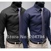 84 Free Shipping New Mens Shirts Casual Slim Fit Stylish Mens Dress Shirts Colors Blue,Black US Szie XS,S,M,L