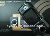 Free shipping 1080P multi language display new car black box with 2.5inch TFT rotating screen