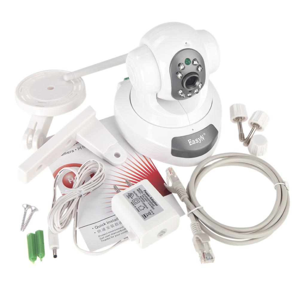 EasyN Wireless WiFi IR Cut IP Camera HD 1MP CMOS Security CCTV Camera Alarm PT, Retail box. Freeshipping, dropshipping wholesale