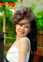 cheap fascinator brown
