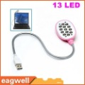 New Flexible USB Powered 13 LED Bright Light Lamp for Laptop Notebook PC FREE SHIPPING