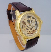 Ladies Mechanical Gold Women Wristwatch Skeleton Rome Automatic Women's Watch Wristwatch