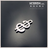 8*14 mm Free ship Tibetan Silver (200pcs) Zinc Alloy Jewelry Accessories Classic Dollar Sign Pendants(3856#)