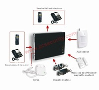 iOS APPS & Android APPS GSM alarm system home burglarproof black style 850/900/1800/1900mhz free shipping