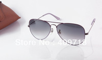 Free shipping 1pcs best quality Designer sunglass men's/women's Purple Fashion style sunglass Gray gradient lens 58mm