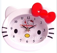 Cute Hellokitty Bell Table Alarm desktop Electronic Clock hello kitty KT face