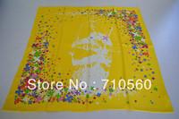 new 2014 free shipping 100% Chinese silk printed twill square scarf bandana pashmina shawl hijab for women 90*90