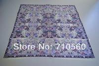 new 2013 autum free shipping 100% Chinese silk printed twill square scarf bandana pashmina shawl hijab for women 90*90