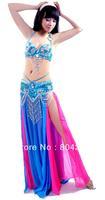 Belly Dance Costume 3 pics set of Bra&Belt&skirt 34B/C 36B/C 38B/C 40B/C 12 colour VENUS03