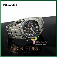 SINOBI Watch Men Wristwatch Japan Movement 30M waterproof  Date/calculagraph Men Sport watch , FREE SHIPPING SS1032G