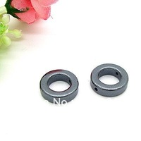 140pcs/lot Ring Magnetic Hematite Beads 14*9mm Fit For Ring Bracelet Necklace Making HD360