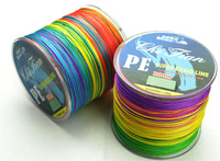 Free Shipping 300M VERTICAL JIGGING LINE PE  BRAID FISHING LINE multicolour braided fishing line 300m