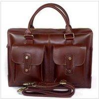Free shipping , Genuine Leather Fashion men's brifecase,handsome shoulder/Messenger bag ,handbag ,Zipper  wholesale /retail