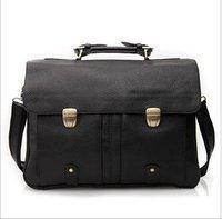 Free shipping , Genuine Leather Fashion men's brifecase,handsome shoulder/Messenger bag ,handbag,Zipper,Brown,Black