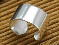 925 silver polish wide band plain ear cuff earrings
