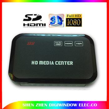 NEW High Quality 3D USB Full HD 1080P HDD Media Player HDMI VGA MKV H.264 SD - Free Shipping