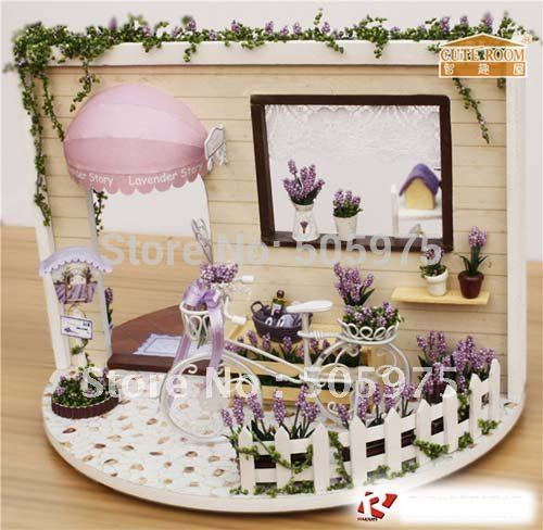 DIY dollhouse, baby Doll house, ,wooden house model,dollhouse miniature,360 rotate house Room decoration(China (Mainland))