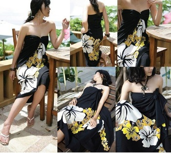 DHL Free shipping+Womens Beach Towel Sarong Gauze,plus size cover ups for swimwear,Black cover ups swimwear,dress cover ups