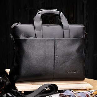 2014 Brand Santagolf hot selling and good value men shoulder bag/cowskin briefcase bag /laptop bag/free shipping