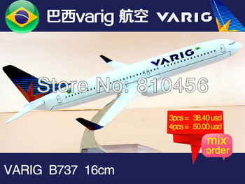 Free Shipping Brazil varig Airline B737 16cm metal airplane models aircraftmodel airbus prototype plane model kits