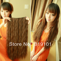 Free shipping-5 clips hair extension  little wavy romantic trend 60*24cm one  piece for  full head