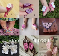 theprinceandme baby crochet sandals infant flower Sock Shoe Cover baby Sock Baby Shoes JB525