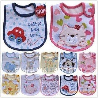 Mixed sales cotton *carter's baby bibs waterproof infant bibs -710001 (send by boys' or girls')
